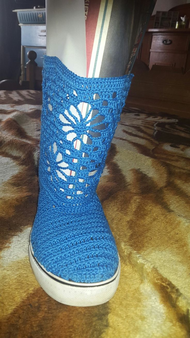 I did it!!!!! Crochet shoes!!!