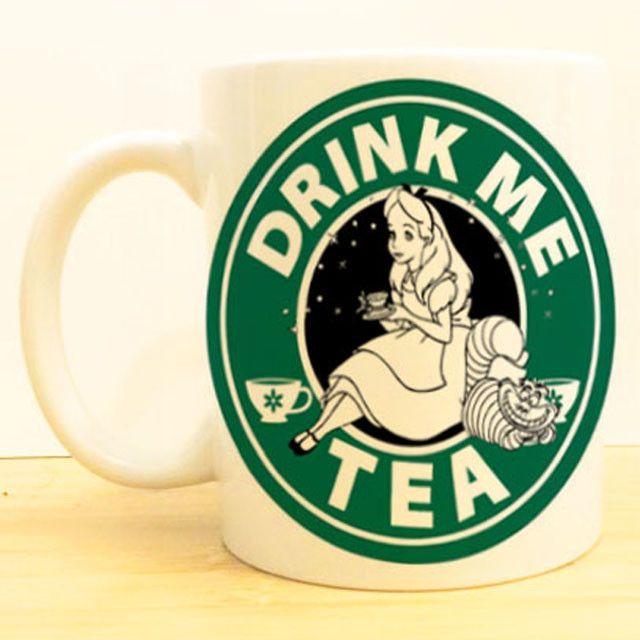Alice in Wonderland Coffee Mug | Drink Me Tea Starbucks | Disney