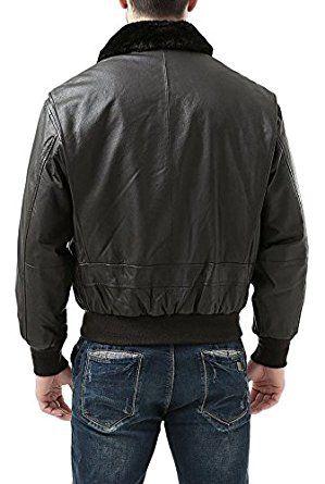 Men's Leather Flight Bomber Jacket for sale | leather jackets for men | jackets for sale (S) at Amazon Men's Clothing store:
