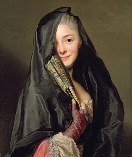 The Lady with the Veil (The Artist's Wife), by Alexander Roslin, 1768. Nationalmuseum, Stockholm