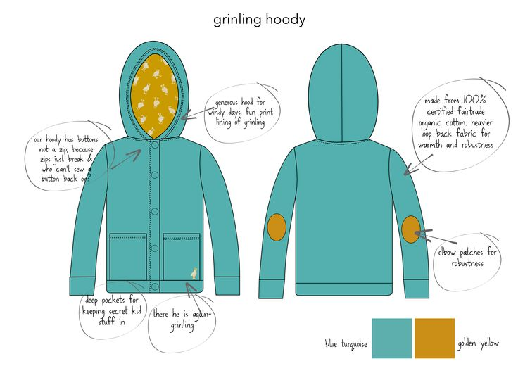 our certified organic fair trade kid's hoody