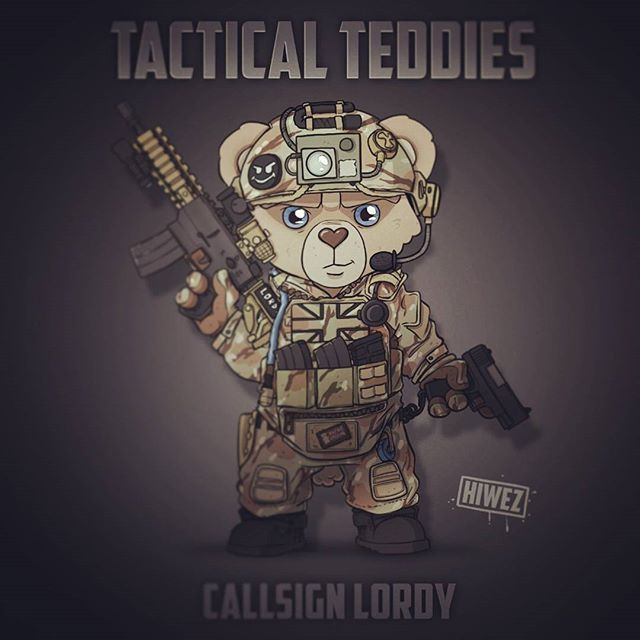 Lordy is part of a two bear team known as The Royals. One of TTHQ's finest Quick Response Teams for extraction missions and flank support during outpost invasions.  This tactical teddy is as wise as he is tough, having served three terms in the front line, thats two more than standard. This is due to him being a well loved family teddy passed down to children and grand children. The connection with his charges heritage gives Lordy the strength it takes to meet any and all opposition with a…