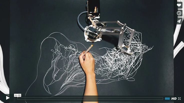 Drawing With a Robot: Sougwen Chung, Drawing Operations (video)