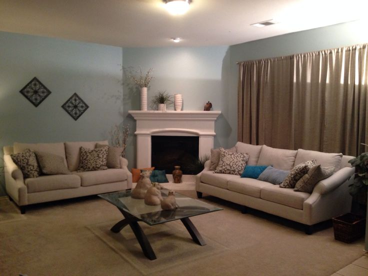 My Living Room I Used Behr Paint From Home Depot Called Watery Really Brightened Up The Room