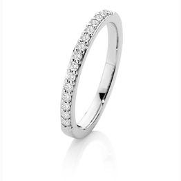 SJ0002 18Ct Wg H Si Brilliant Pave Diamond 0.23Tdw Band