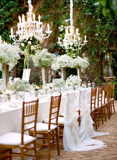 Garden Wedding, Reception Outdoor, Garden, Decor, Table Decor, chandelier