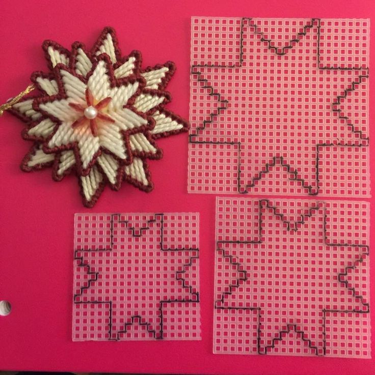 Christmas Star Ornament Plastic Canvas Crafts