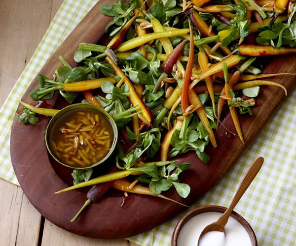 Baby Carrot Salad - by Pete Evans from Moveable Feast with Fine Cooking Episode 3