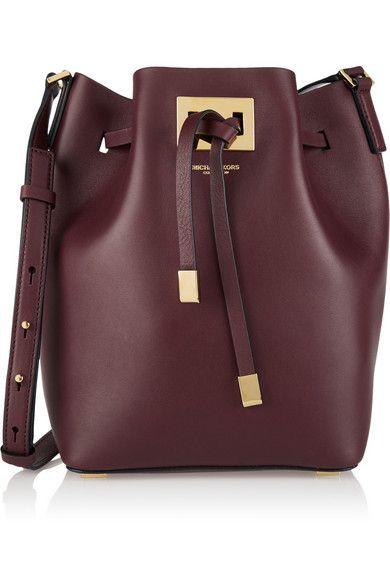 Michael Kors Collection | Miranda medium leather bucket bag | NET-A-PORTER.COM