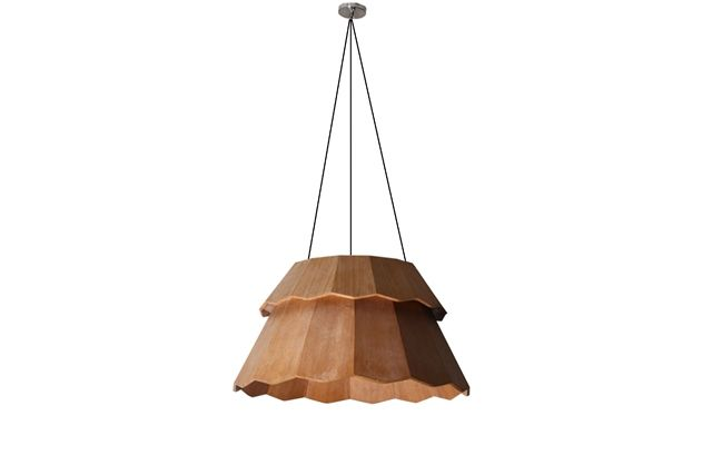 Janur  is A pendant that was inspired by the shape of janur, a traditional decorative handicraft that is normally used to decorate traditional ceremonies. This pendant i s made out of plywood and creates a warm, shelter-like feel for people beneath it.