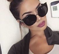 Fashion Cat Eye Sunglasses Women's Summer Eyewear New Oversize Polarized Glasses