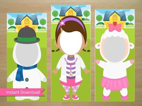 Doc McStuffins Photo Booth Prop Doc McStuffins by SquigglesDesigns