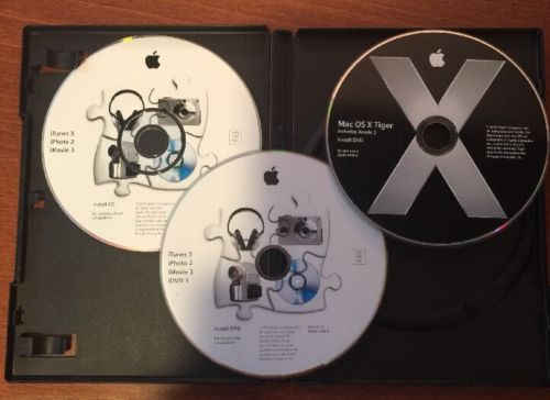 Apple Mac OS X Tiger 10.4.3 Install DVD plus bonus!