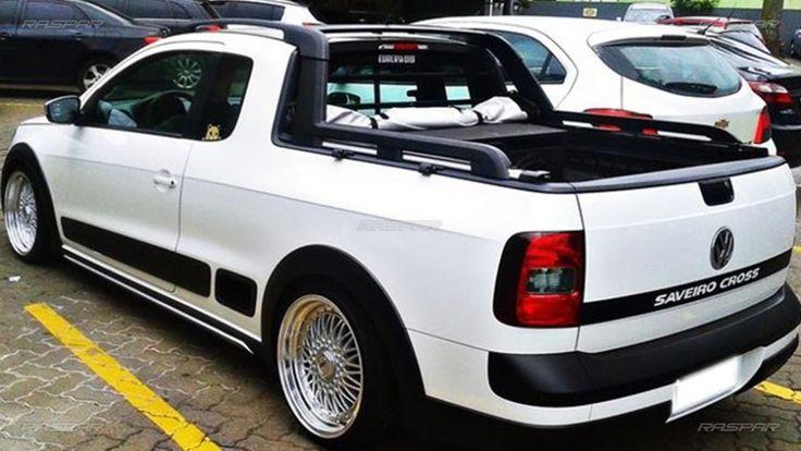 "Volkswagen Saveiro Cross 2014 com rodas BBS aro 17"" e pneus Nankang 195/40/17"