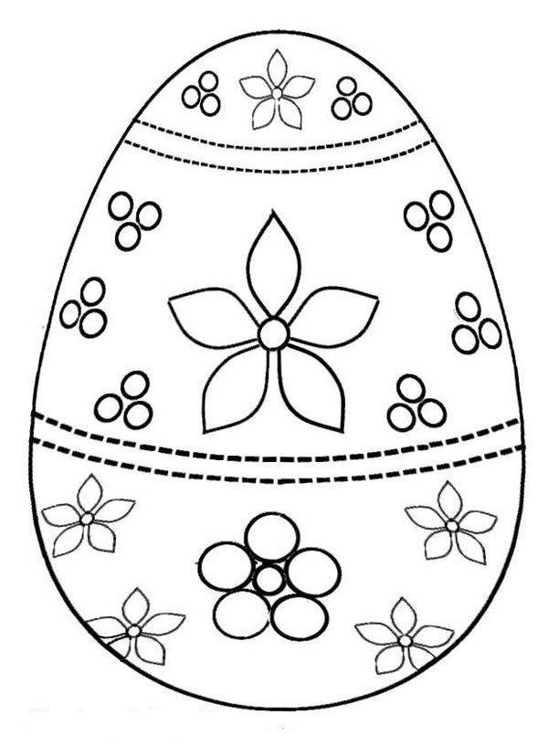 Decorating Easter Egg Coloring Pages Kids