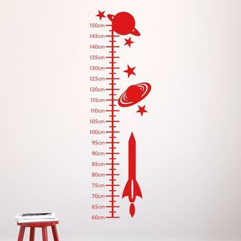 Space Rockets Kids Height Chart by MIRRORIN £19.95