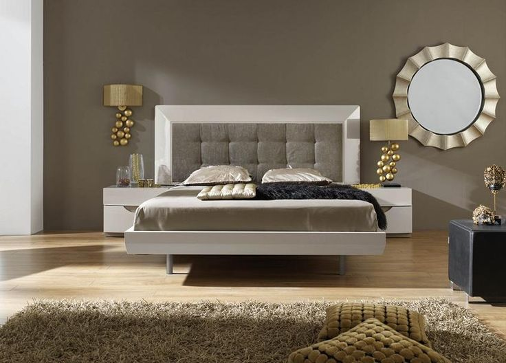Bonito dormitorio de matrimonio en lacado blanco y textil - Textil dormitorio ...
