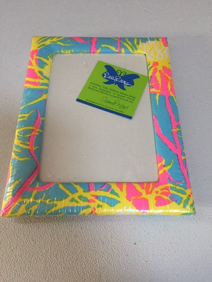 Lilly Pulitzer Picture Frame 5x7 Samuel Ward Blue yellow pink Rare Vintage New #LillyPulitzer #Tropical
