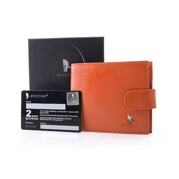 Nieduży portfel Puccini P1953 w kolorze pomarańczowym