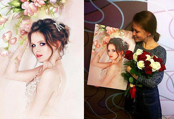 Custom Portrait Painting from Photo Baby Portraits Art