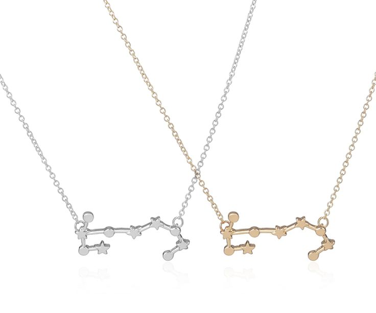 2016 New Scorpio Zodiac Signs Astrology Necklace Constellation Pendant Necklaces for Women Geometric Party Necklace -N158