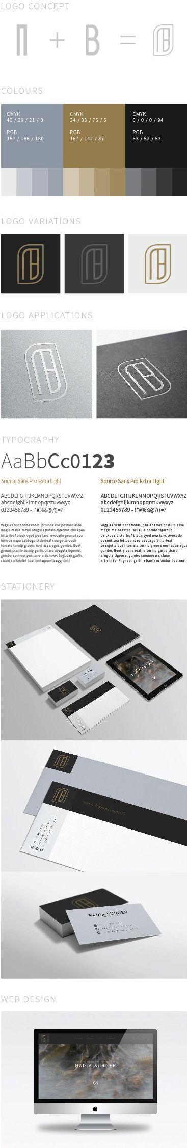 Identity for Nadia Burger Design via Behance