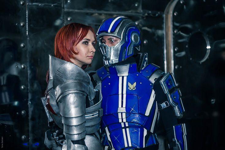 Mass Effect cosplay. Jane Shepard and Kaidan Alenko.  Yekaterinburg, August 2015. Photo by Tama Belinski