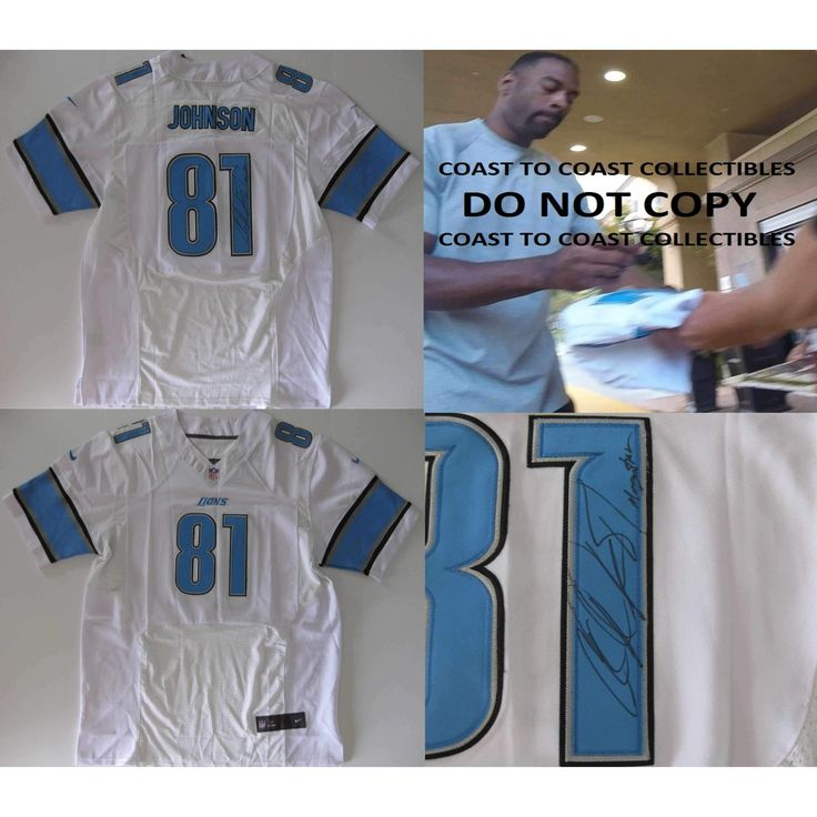 Calvin Johnson Detroit Lions, Megatron, Signed, Autographed, Lions Jersey, a COA with the Proof Photo of Calvin Signing Will Be Included