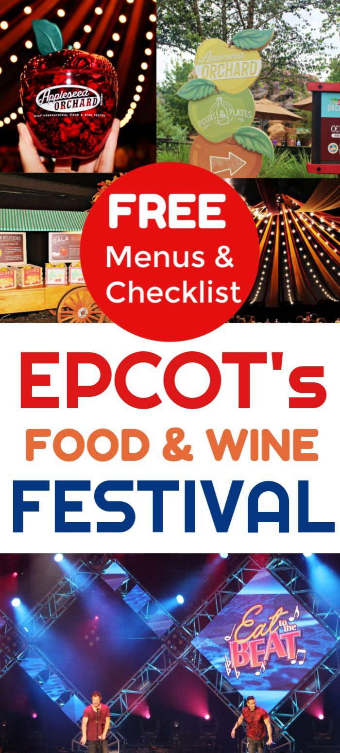 Grab Your Free Food And Wine Festival Checklist And Planner With The Complete Menus F Disney Trip Planning Disney World Tips And Tricks Disney World Christmas