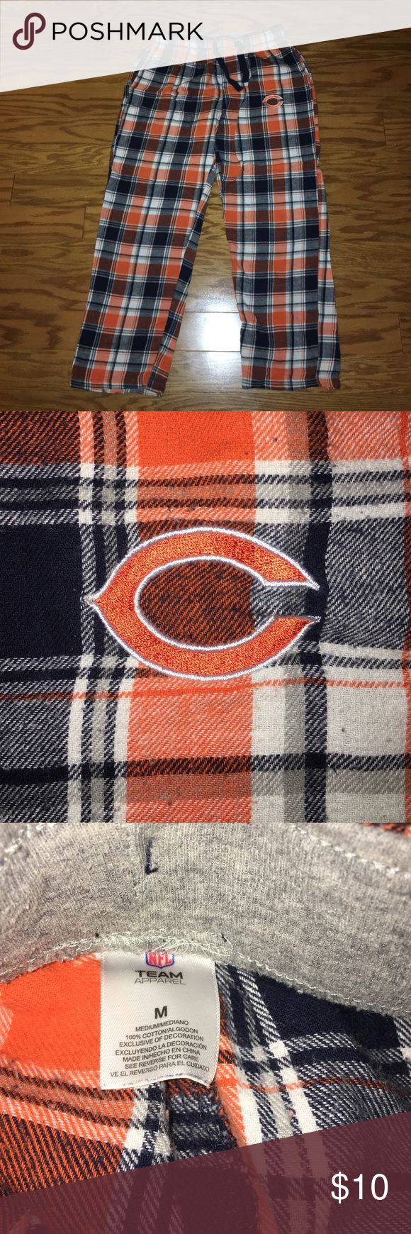 Chicago Bears PJ Pants Chicago Bears Pajama Pants. About: PJ Pants have been worn, but in good condition. Draw sting still in waist. Comes from a smoke-free home. Please ask for additional photos if needed. Open to offers & bundles but no trades. NFL Team Intimates & Sleepwear Pajamas