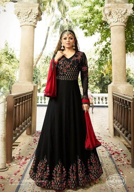 e58fd07b4ee Beautiful black floor length anarkali suit