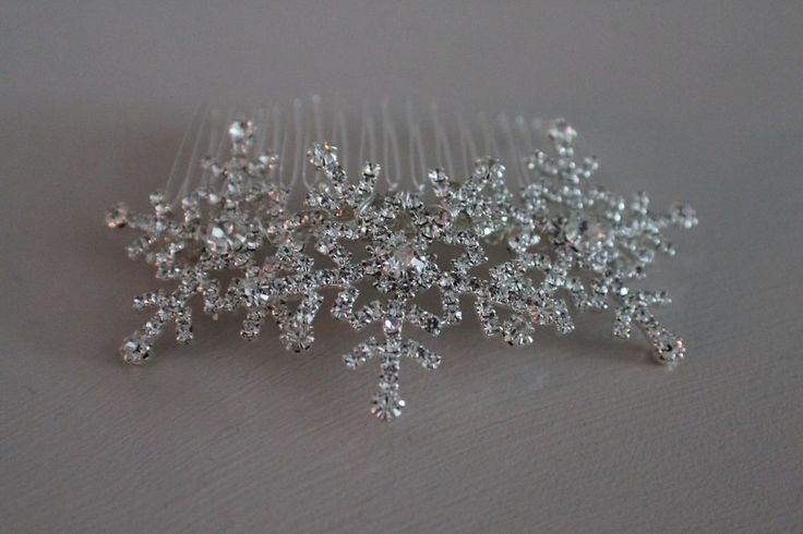 Diamante snowflake hair comb large winter wedding hair comb christmas party . in Clothes, Shoes & Accessories, Wedding & Formal Occasion, Bridal Accessories | eBay