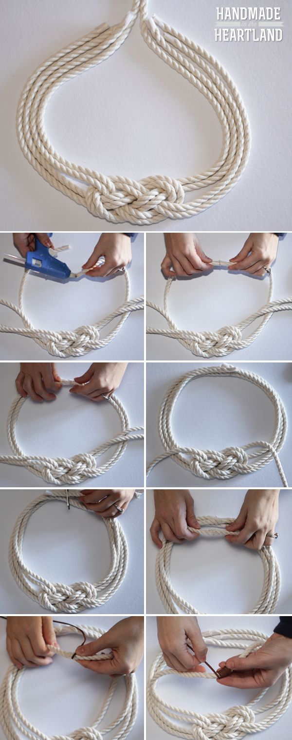 DIY Nautical Knot Rope Necklace