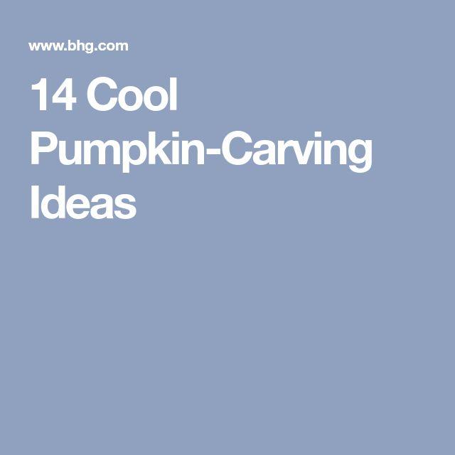 14 Cool Pumpkin-Carving Ideas