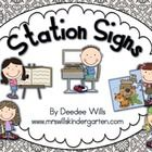 Get your stations or centers organized with these work board signs.I have used a version of these signs for years and after a few weeks my little...