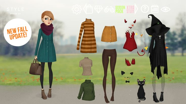 New fall update for Style Dress up game with lots of new features and free stuff!