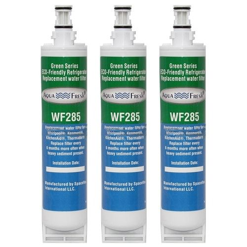 Replacement Water Filter Cartridge For Whirlpool Refrigerator ED5PHEXNL00 - (3 Pack), Blue aqua