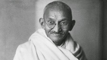 Mohandas Karamchand Gandhi was born in Porbandar, Gujarat, in North West India, on 2nd October 1869, and assassinated in Delhi, in January 1948. He brought a new form of protest to India's fight for independence - passive resistance.