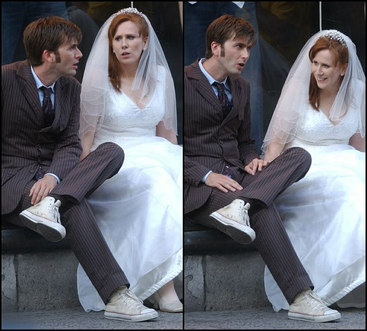 David Tennant Tenth Doctor And Catherine Tate Donna Wedding DressesTenth