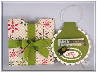 Ornament money holderChristmas Cards, Cards Ideas, Gift Cards Holders, Diy Gift, Money Holders, Handmade Gift, Christmas Wraps For Kids, Diy Christmas Gift For Money, Ornaments Money