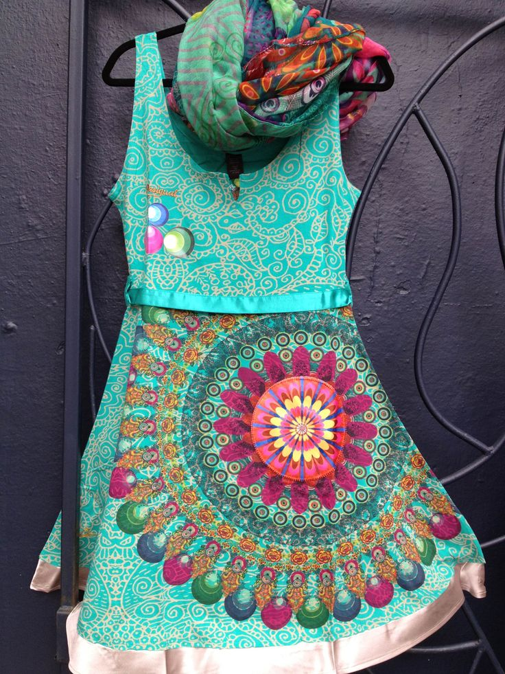 Beautiful dress from Desigual. Try something different for this holiday!