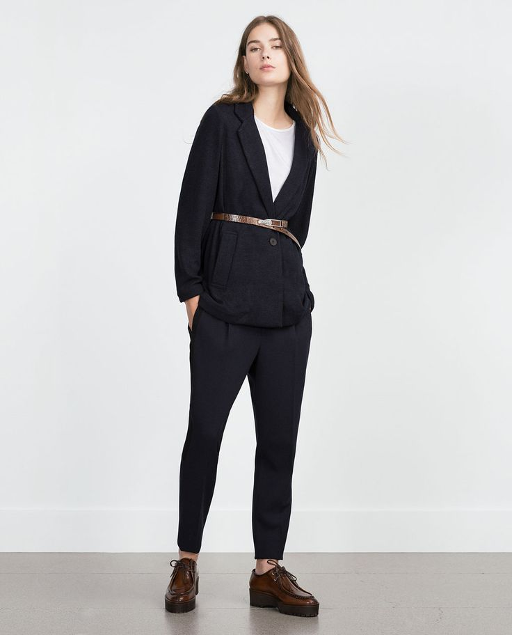 Image 1 of LONG BLAZER from Zara
