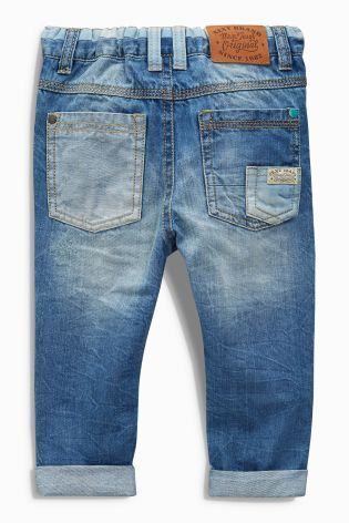 Buy Denim Mid Blue Workwear Jeans (3mths-6yrs) from the Next UK online shop