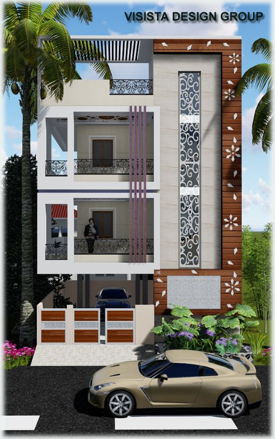 Duplex House Design, Small House Elevation
