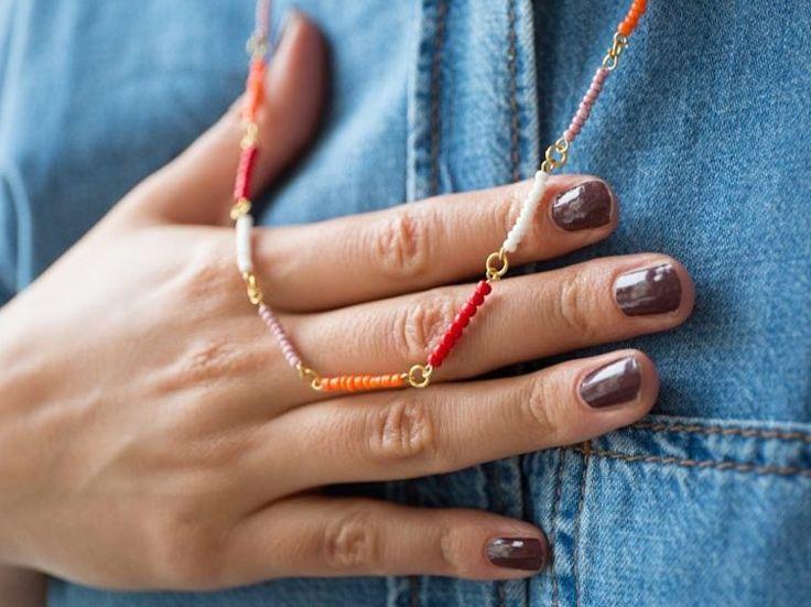 DIY-Anleitung: Bunte Perlenkette selber machen via DaWanda.com
