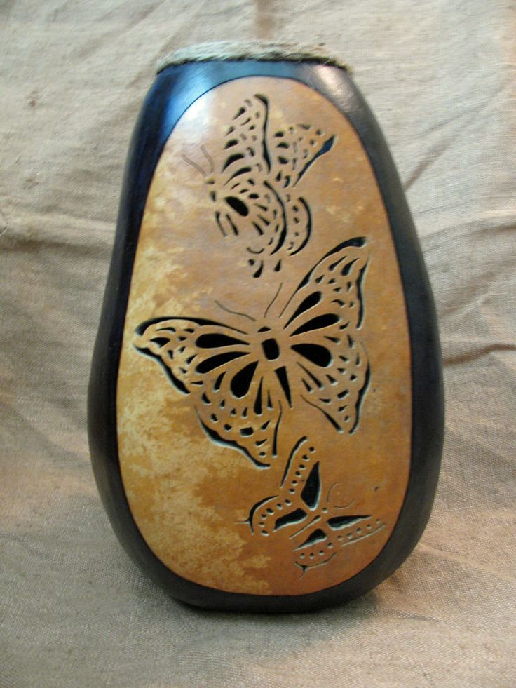 Dremel gourd patterns carved art gourds