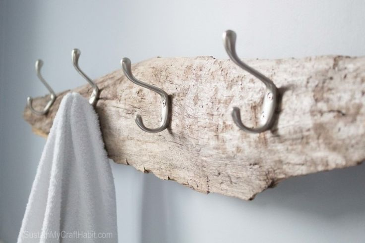 Treibholz Garderobe mit Haken