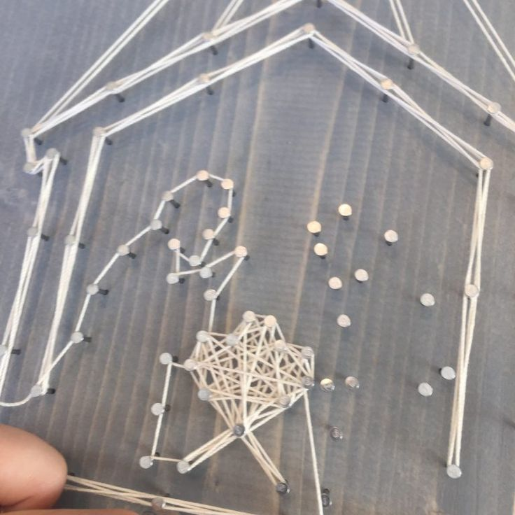 String Art Nativity DIY from Every String Attached