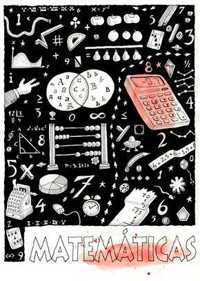 Ilustrador Alexiev Gandman: Carátula de Matemáticas