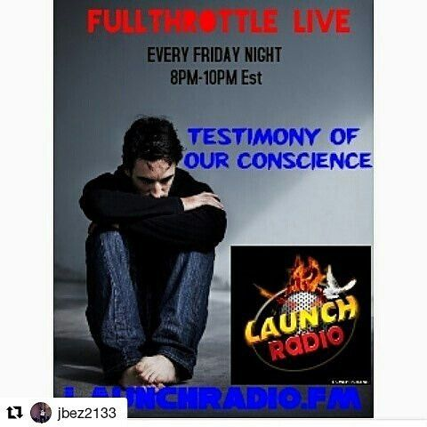 """Credit to @jbez2133 (@get_repost) ・・・ TUNE INTO @fullthrottlelive on @launchradio  THIS FRIDAY'S MESSAGE IS VERY DEEP. """"THE TESTIMONY OF OUR CONSCIENCE""""  The message from @bonniejeanl woth BraveTalk is empowering  and the message from  @thekingthreat with Chop It Up is challenging.  YOU DONT WANT TO MISS THESE MESSAGES.  #hiphop #message #rap #street #chicago #atlanta #miami #newyork #detriot #texas #cali #Word #kingdom #problems #radio #challenge #Florida #hollywoodbeach #raw #uncut (at…"""